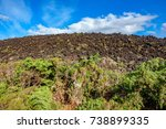 wide angle view of volcanic... | Shutterstock . vector #738899335