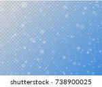seamless vector white snowfall... | Shutterstock .eps vector #738900025