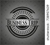 business trip realistic dark... | Shutterstock .eps vector #738907639