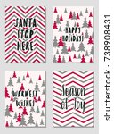 christmas cards vector... | Shutterstock .eps vector #738908431