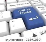 add as friend | Shutterstock . vector #73891090