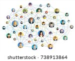 vector illustration of social... | Shutterstock .eps vector #738913864