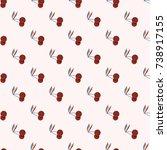 cute cherry seamless pattern....   Shutterstock .eps vector #738917155