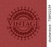 vintage vintage red emblem