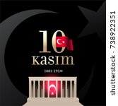 republic day of turkey national ... | Shutterstock .eps vector #738922351