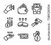 money   finance icon set   Shutterstock .eps vector #738928504