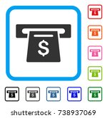 payment slot icon. flat grey...