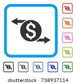 money exchange icon. flat gray...