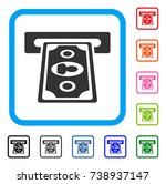 payment terminal icon. flat...