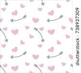 vector seamless pattern of... | Shutterstock .eps vector #738937309