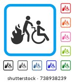 fire patient evacuation icon.... | Shutterstock .eps vector #738938239