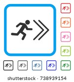 exit direction icon. flat grey... | Shutterstock .eps vector #738939154