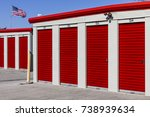 numbered self storage and mini... | Shutterstock . vector #738939634