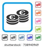 euro coin stacks icon. flat... | Shutterstock .eps vector #738940969