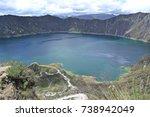 quilotoa lake view  ecuador ...   Shutterstock . vector #738942049