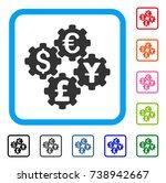 financial gears icon. flat grey ...