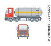 stock vector isolated truck for ... | Shutterstock .eps vector #738943207