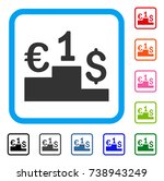 currency competition icon. flat ... | Shutterstock .eps vector #738943249