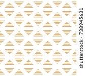 striped golden triangles of...   Shutterstock .eps vector #738945631