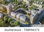 modern residential complex bird'... | Shutterstock . vector #738946171