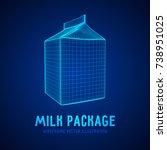 milk package or juice box.... | Shutterstock .eps vector #738951025