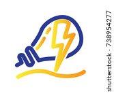 power lamp logo   Shutterstock .eps vector #738954277
