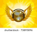 sparkling gold disco ball and... | Shutterstock .eps vector #73895896