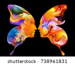 colors of us series. artistic... | Shutterstock . vector #738961831