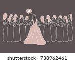 bride maids   Shutterstock .eps vector #738962461