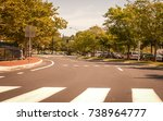 city street with street markers.... | Shutterstock . vector #738964777