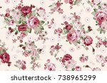 Stock photo rose bouquet flower pattern 738965299