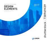 design element for corporate... | Shutterstock .eps vector #738969439