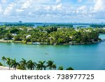 miami beach. aerial view of... | Shutterstock . vector #738977725