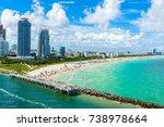 south beach  miami beach.... | Shutterstock . vector #738978664