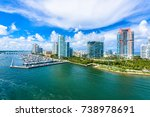 south pointe park and pier at... | Shutterstock . vector #738978691
