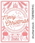 bauble christmas greetings... | Shutterstock .eps vector #738980941