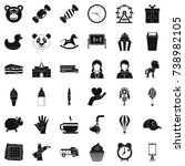 childcare icons set. simple... | Shutterstock . vector #738982105