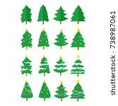christmas tree vector graphic... | Shutterstock .eps vector #738987061