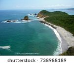 beautiful beach los frailes at... | Shutterstock . vector #738988189