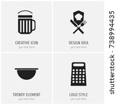 set of 4 editable cooking icons....
