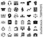 business and finance icons set. ... | Shutterstock . vector #738994591