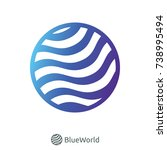 abstract circle world water... | Shutterstock .eps vector #738995494
