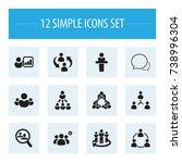 set of 12 editable community... | Shutterstock .eps vector #738996304