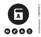 set of 5 editable web icons....