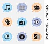 set of 9 editable audio icons....