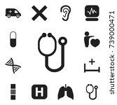 set of 12 editable hospital...