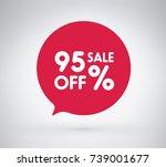 95  offer label sticker  sale... | Shutterstock .eps vector #739001677