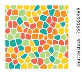 square of mosaic elements....   Shutterstock .eps vector #739002469