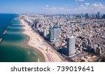Tel Aviv Skyline Off The Shore...