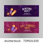 bonfire night  guy fawkes day ... | Shutterstock .eps vector #739031335